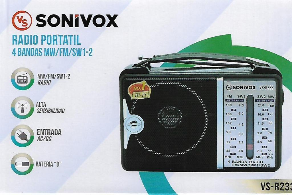 Radio Portatil 4 Bandas Sonivox 233