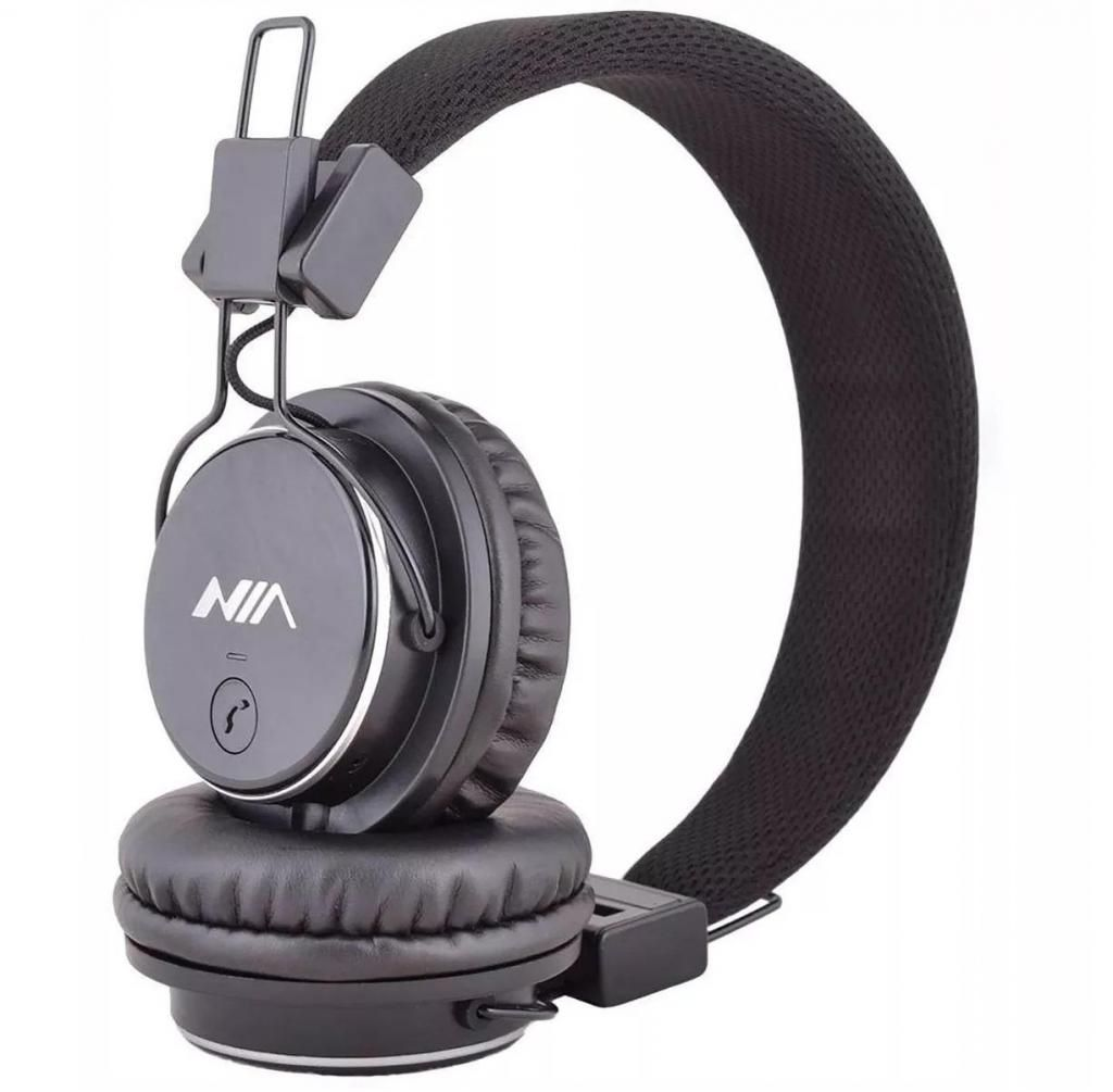 Audífonos Diadema Con Bluetooth Sd Fm Recargable Y Botón