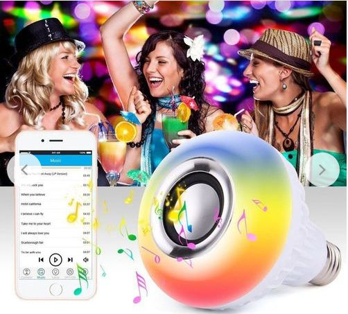 Bombillo Led con Altavoz Bluetooth Rgb