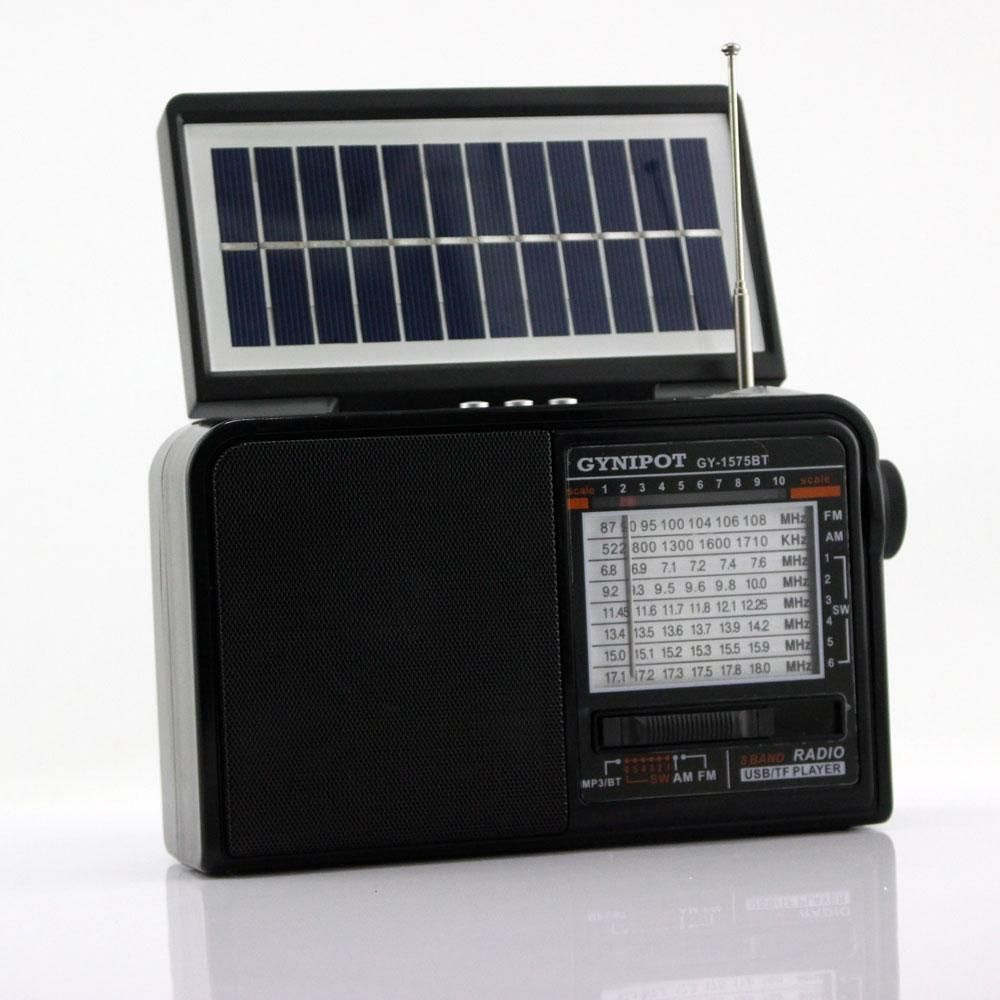 Radio AM/FM solar parlante USB Micro SD bluetooth 8 bandas