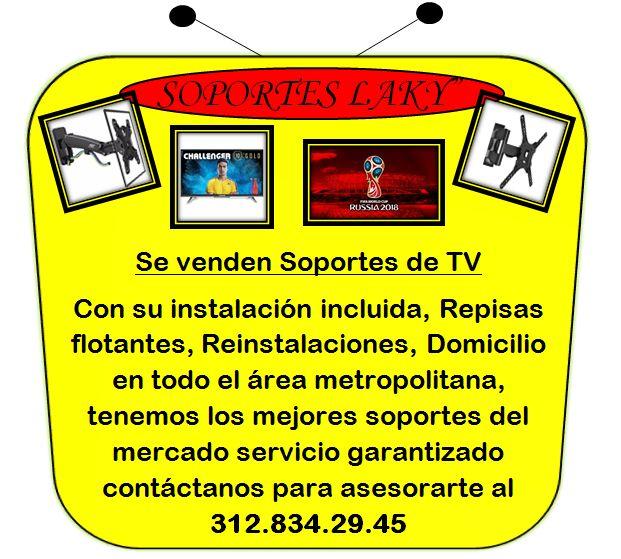 SE VENDEN SOPORTES DE TV E INSTALACIONES AL