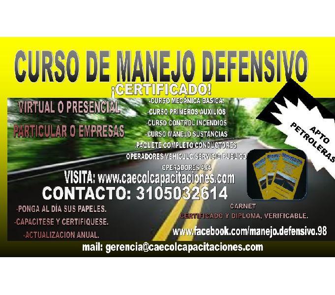 CURSO DE MANEJO DEFENSIVO METODO CERTIFICADO