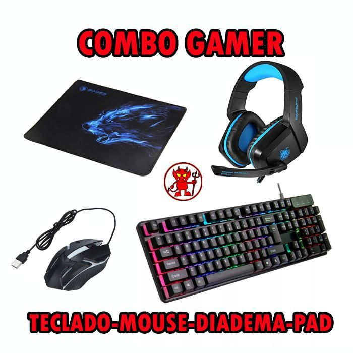Combo Gamer / Teclado, Mouse, Diadema, Pad ¡¡¡ENTREGA