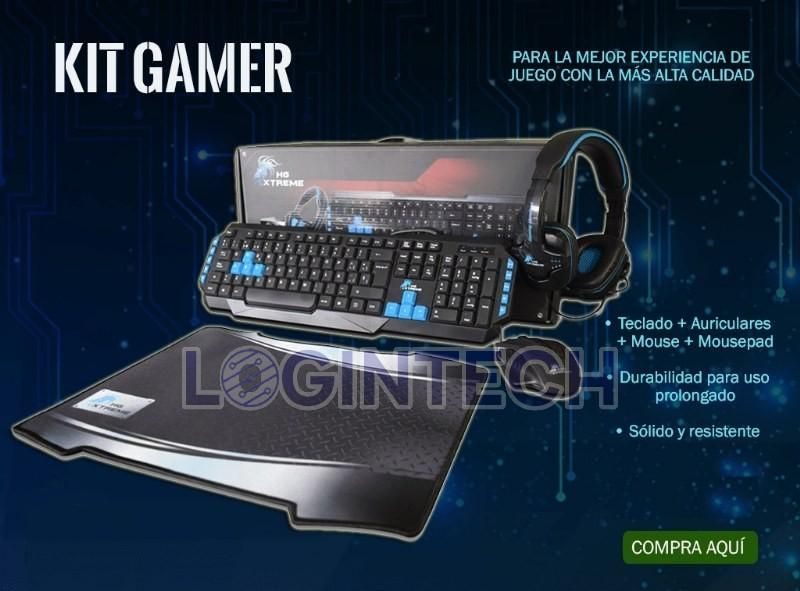 GAMER HG XTREME Combo Teclado Mouse Diadema y Pad Mouse