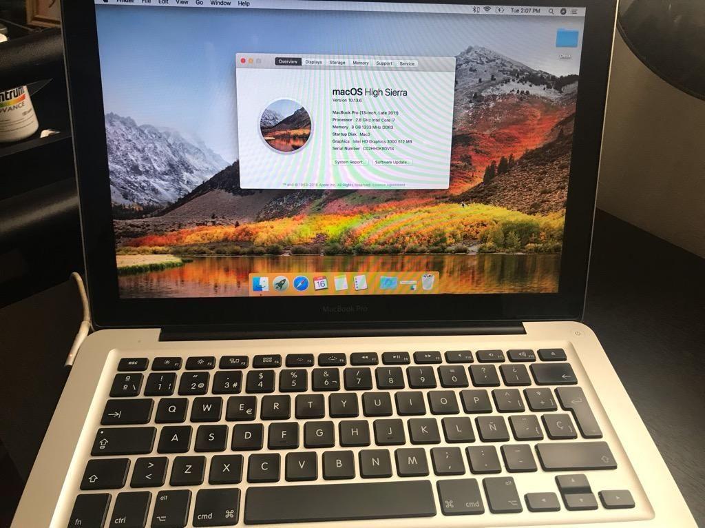 Macbook Pro I7 2.8Ghz 8Gb Ram 240Gb Ssd
