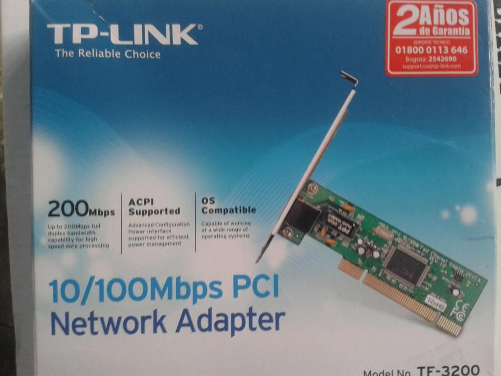 Tarjeta de Red  Mbps PCI Modelo TF
