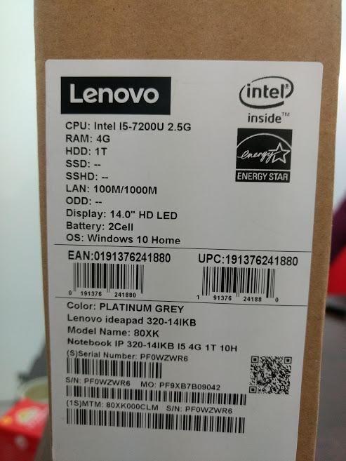 portatil lenovo core i5 de 7a generación nuevo con factura