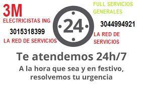3M ELECTRICISTAS Y SERVICIOS GENERALES las 24 horas