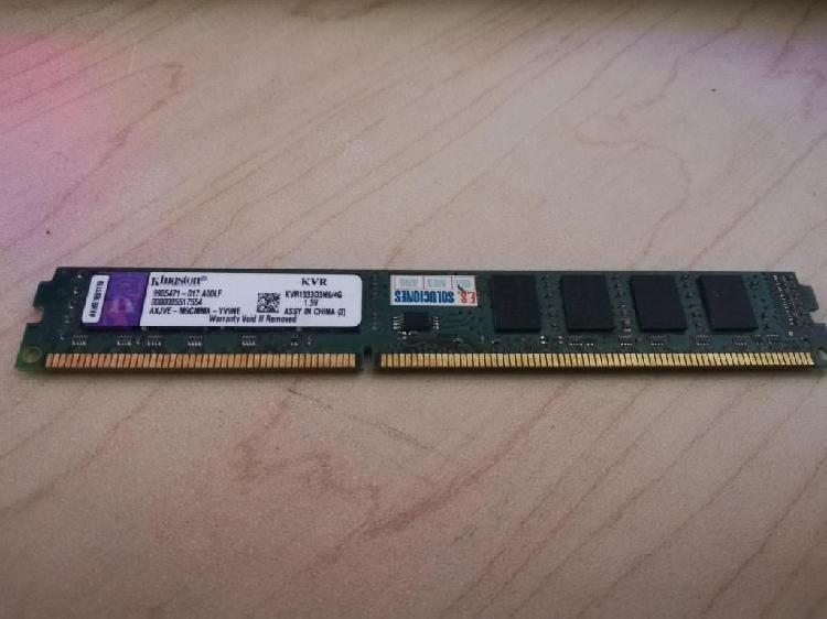 Memoria DDR3 4 GB PC3 Bus 1333 Ghz Marca Kingston