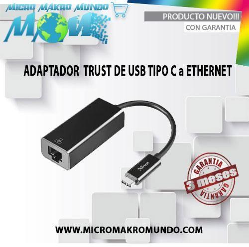 Adaptador Trust De Usb Tipo C A Ethernet