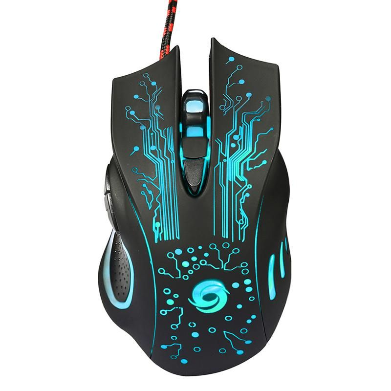 Gaming Mouse  DPI 6 botones LED óptico profesional