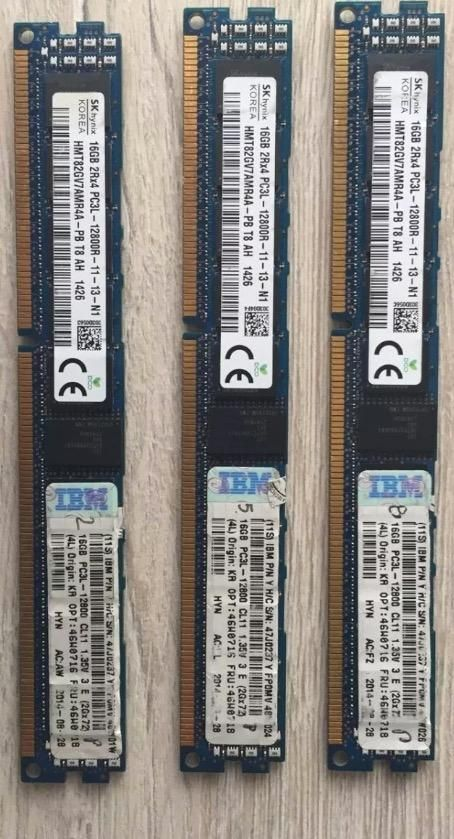 Ibm 16gb Pc3lr mhz Ecc Reg Dr X4 Cas11 Lv Low Pro