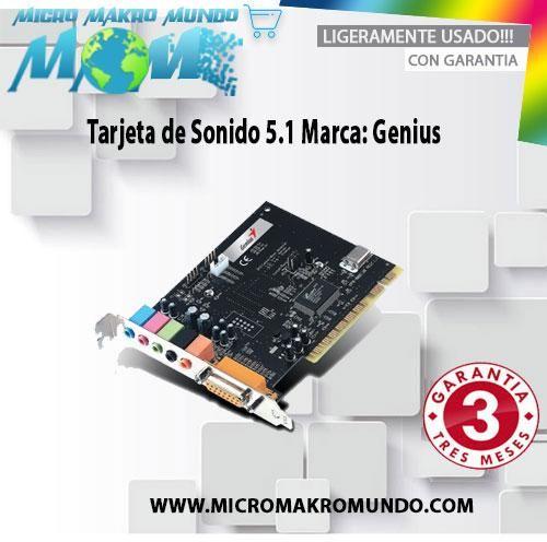Tarjeta De Sonido 5.1 Marca: Genius