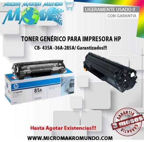 Tonner Genérico 35a, 36a, 85a Pa/ Impresoras Hp Laserjet