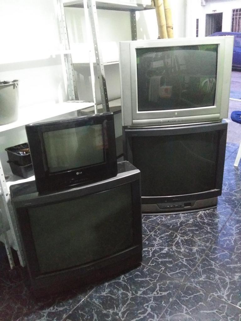 3 tv para repuestos o reparar diferentes marcas