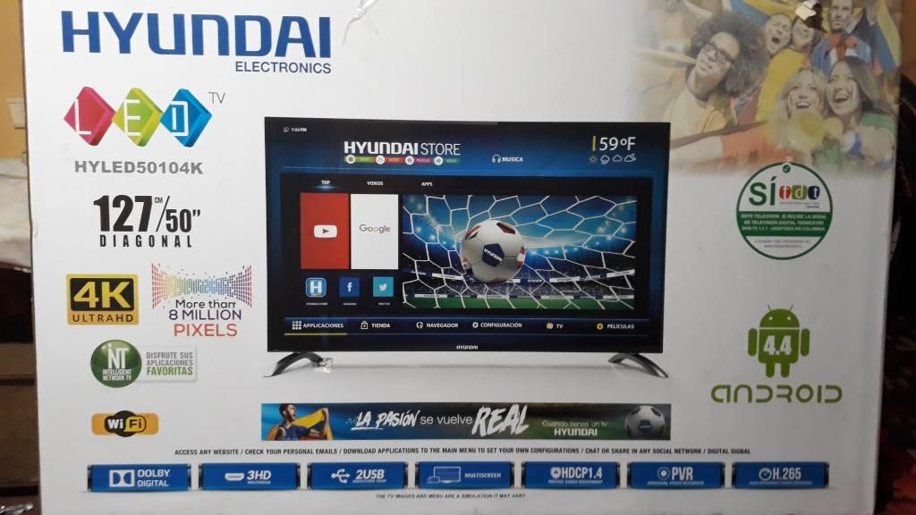 Tv Hyundai 55 Pulgadas Pantalla Estallad