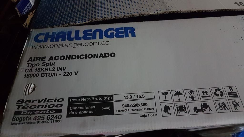 Aire acondicionado Challenger - inverter de  btu