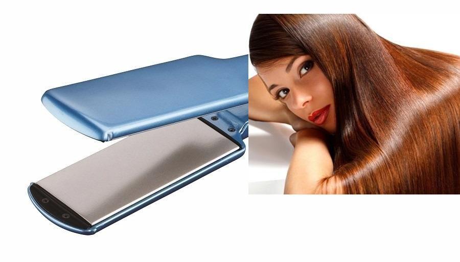 Plancha titanium plates ultra suave para cabello de 3.2 cms