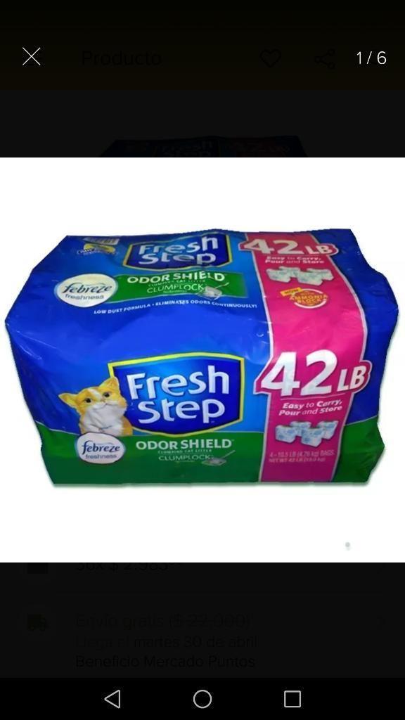 Arena para Gatos Fresh Step X19 Kg
