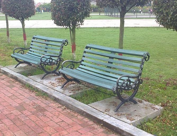 Bancas Tipo Parque Para Patios o jardines En Hierro Y Madera