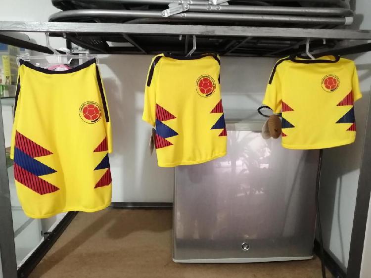 Camisas para mascota Selección Colombia Tallas S,M,L