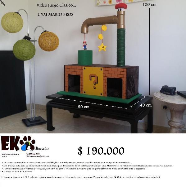 Rascador / Gimnasio para gatos tipo vídeo juego Mario Bros