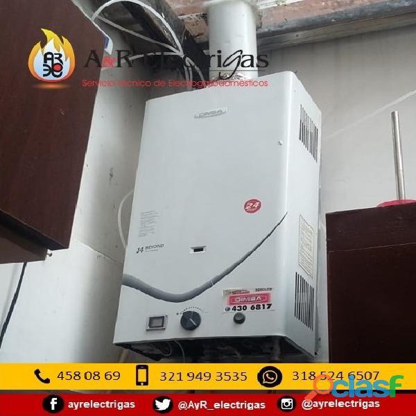 Reparacion y Mantenimiento de Calentadores a Gas y