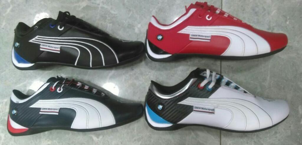 Tenis Zapatillas Puma Bmw Cuero 4 Nuevos Colores Hombre
