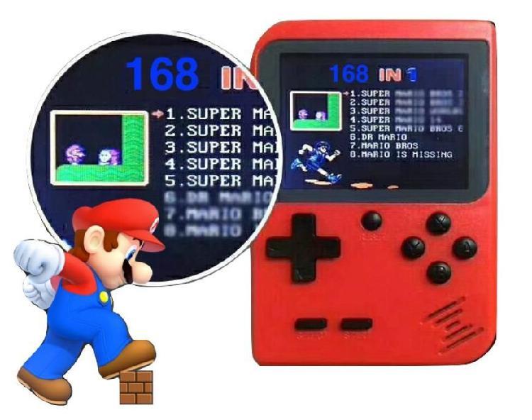Consola De Juegos Retro Portátil 8 Bits 168 Game Para Boy