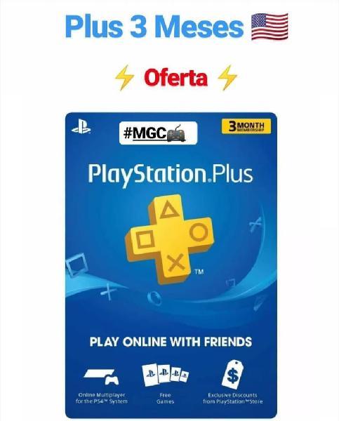 Playstation Plus 3 Meses Psn Plus Mgc