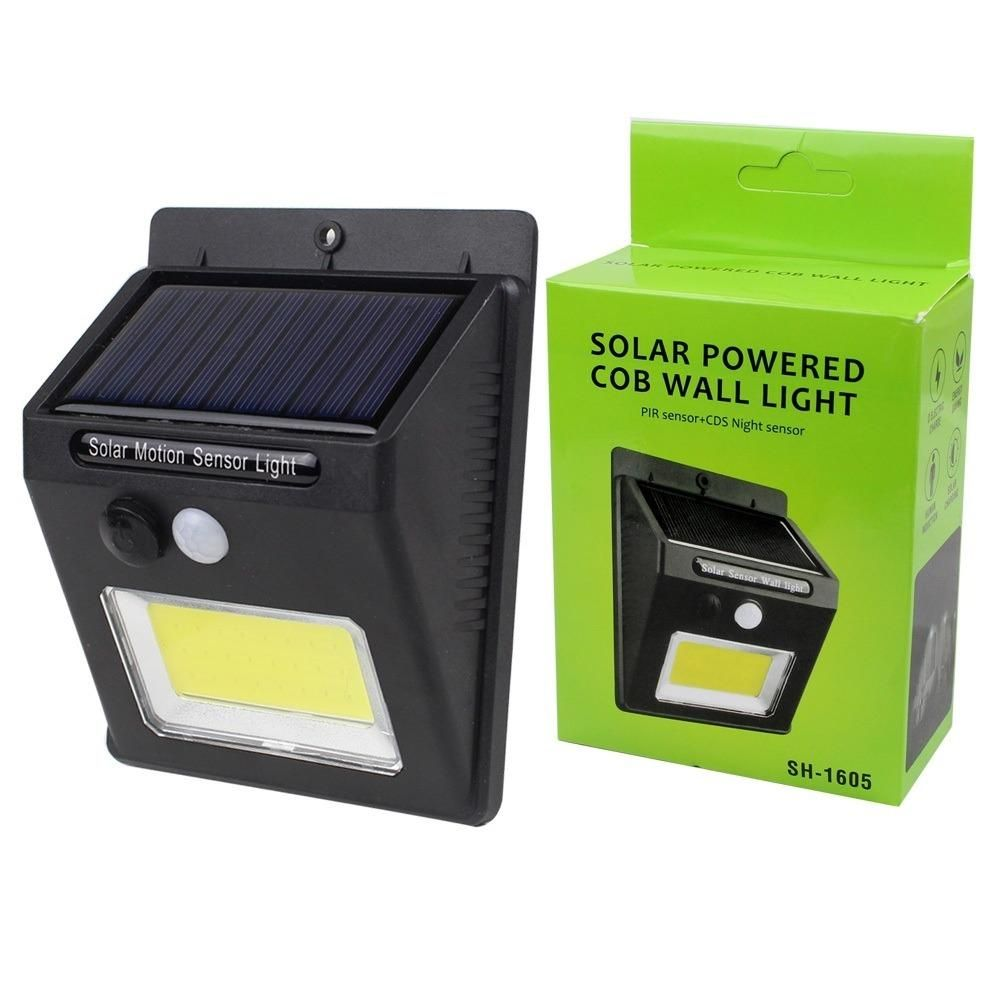 Luz Led De Exterior Sensor Movimiento Panel Solar Sh-