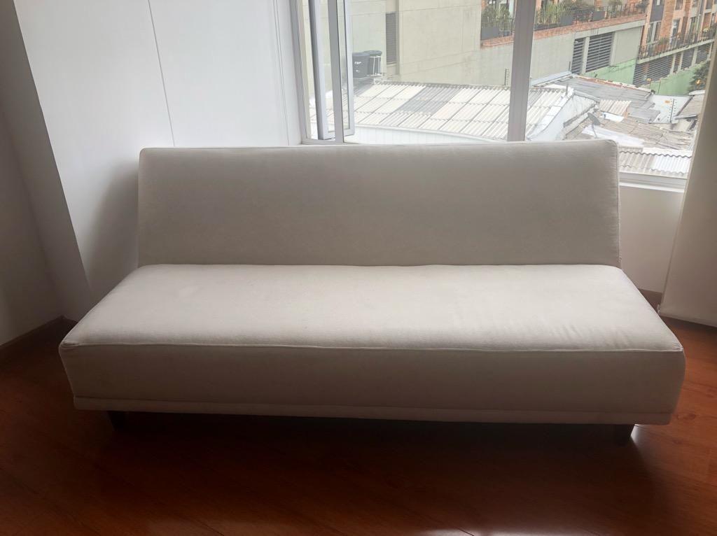 Sofa Cama Color Hueso