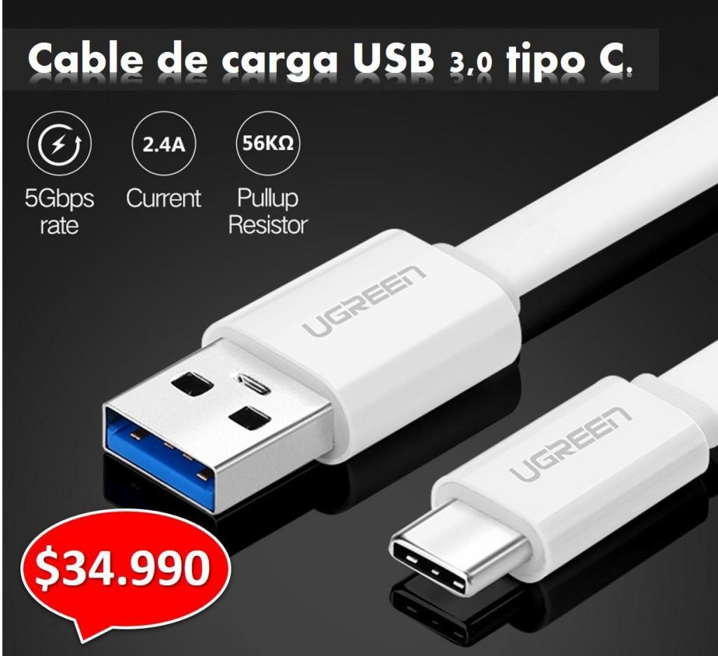 CABLE USB CARGA RAPIDA Y DATOS 3.0 PARA SAMSUNG, HTC, ONE