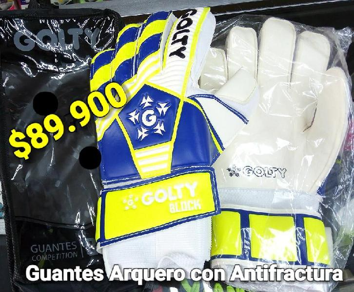 GUANTES ARQUERO GOLTY PRO CON ANTIFRACTURA