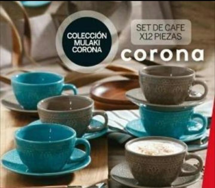 Set de cafe corona nuevo