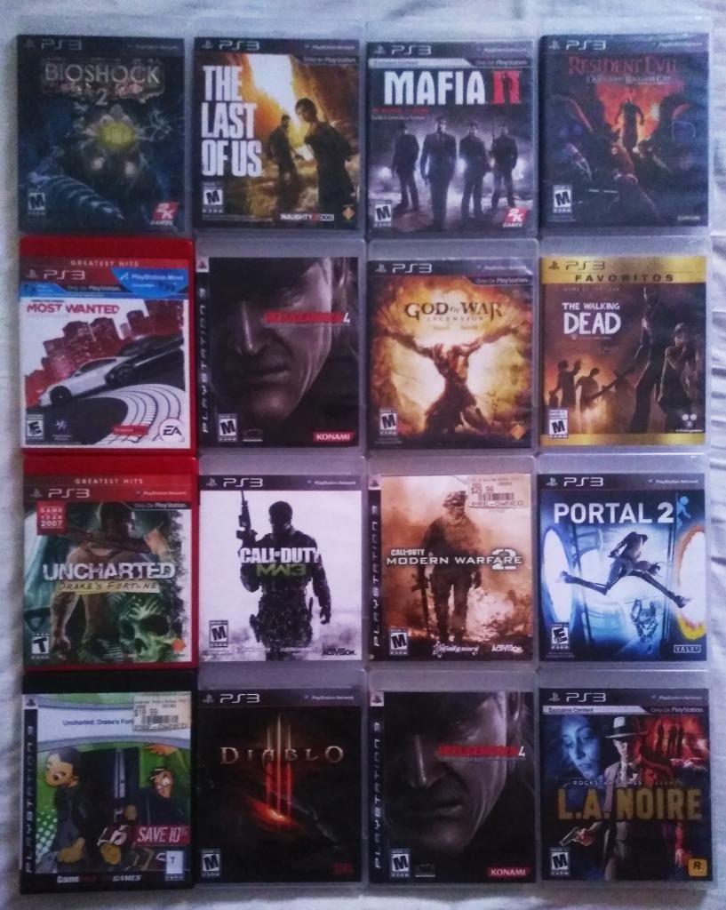 Bioshock, Resident, Portal2, Juegos Ps3