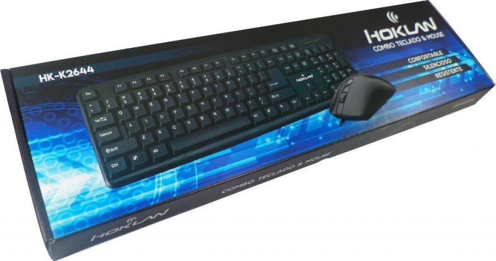 Combo Teclado Y Mouse Raton Usb Negro K Para Computador