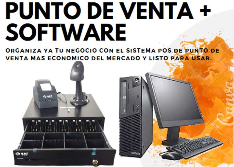 PC IMPRESORA SOFTWARE PUNTO DE VENTA SOFTWARE TODO INCLUIDO
