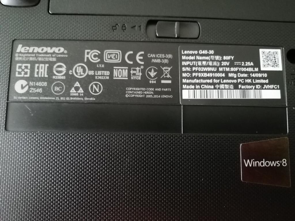 Se Vende Portátil Lenovo G