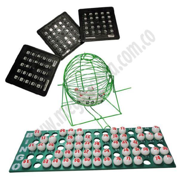 Set de Bingo con tablas plasticas