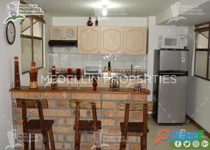 Apartamentos Amoblados Baratos en Medellín Cód: 4094 *