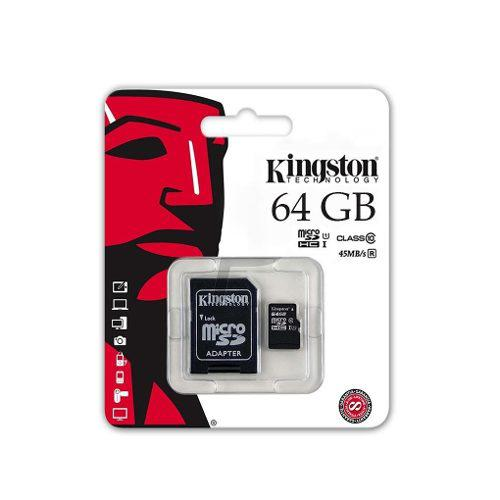 Memoria Kingston Micro Sd 64 Gb C 10 80 Mb/seg Sdcs/64gb