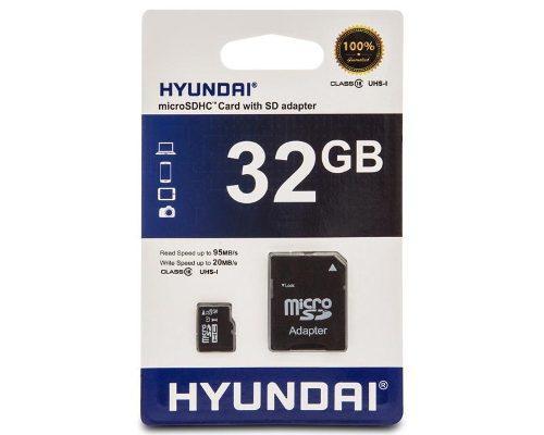 Memoria Micro Sd 32gb Clase 10 Hyundai 92/mb Al Por Mayor