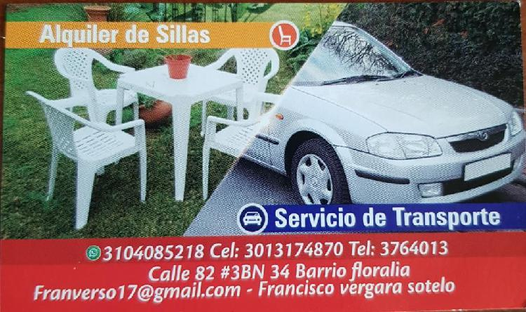 Servicio de Transporte Y Alquiler Sillas