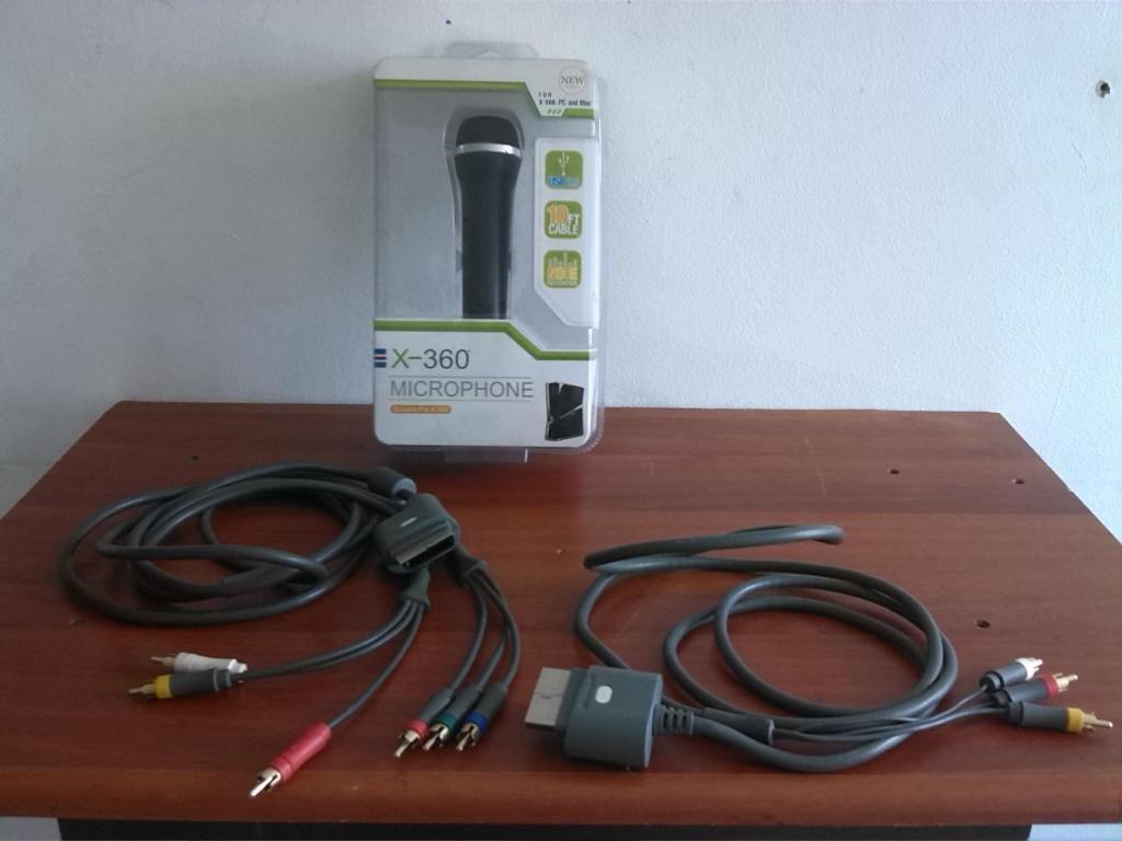 Cables de video de xbox 360 y microfono para 360 y pc