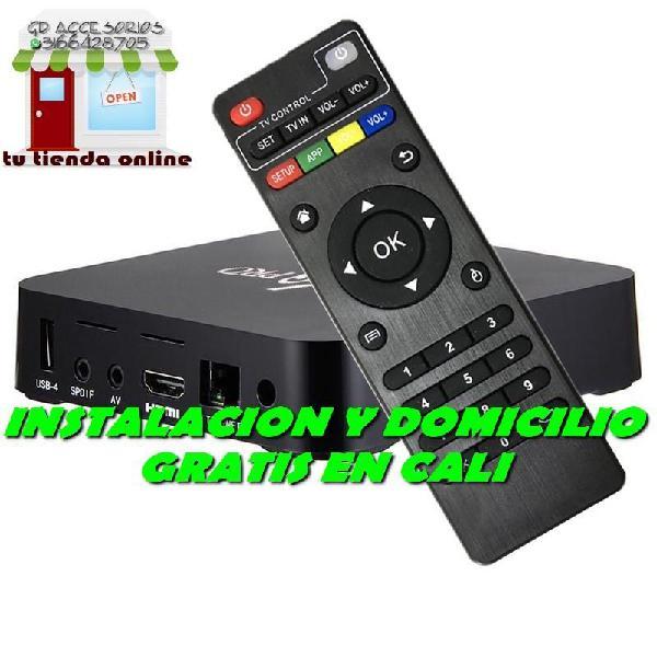 DOMICILIO EN CALI CAJAS TV BOX MXQPRO 4K, CON APLICACION