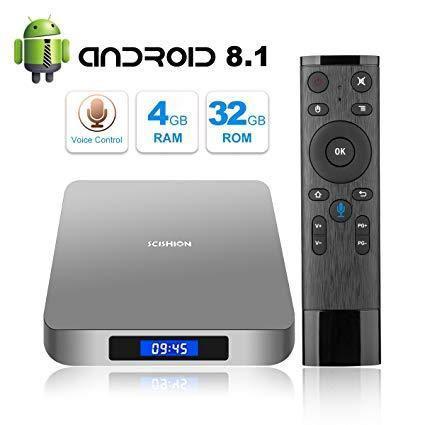 Tv Box Scishion Ai Android 8.1 Control De Voz 4 Ram 32 Giga