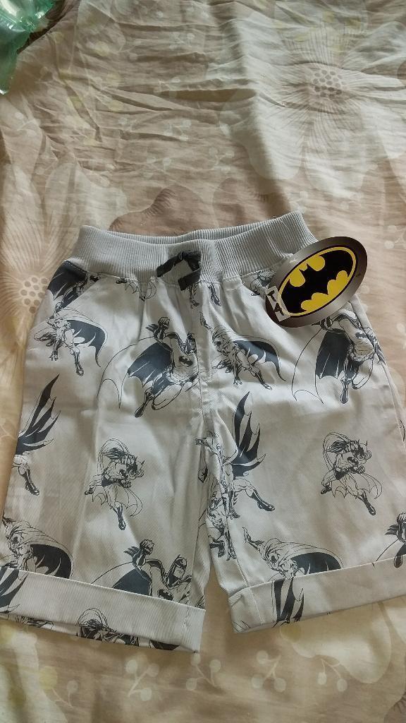 Pantaloneta Batman Niño Tallas 4 Y 5