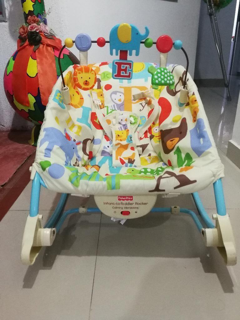 Silla Vibradora Y Mesedora para Bebé