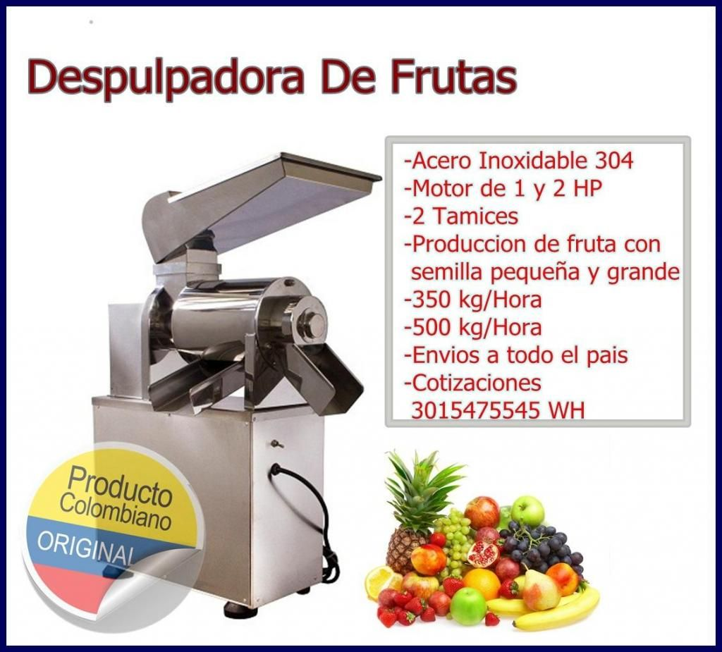 Despulpadora De Frutas 500 kg